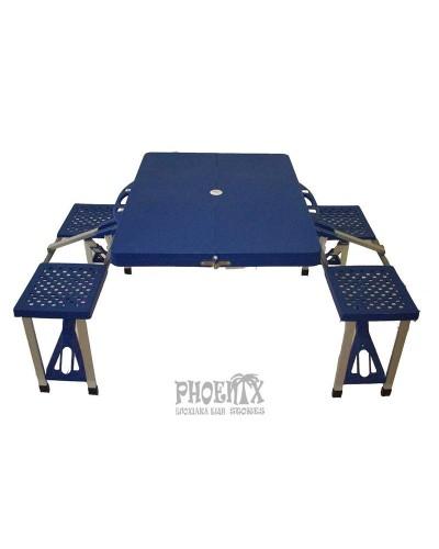 Τραπέζι Πτυσσόμενο Αλουμινίου Βαλιτσάκι Πικ-Νικ 4 Ατόμων