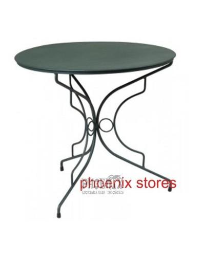 Τραπέζι Κλασικό Μεταλλικό Φ80εκ.