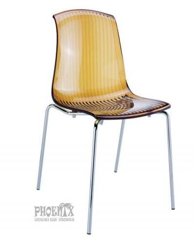 2973 Ακρυλική Καρέκλα χρώμα  ΜΕΛΙ