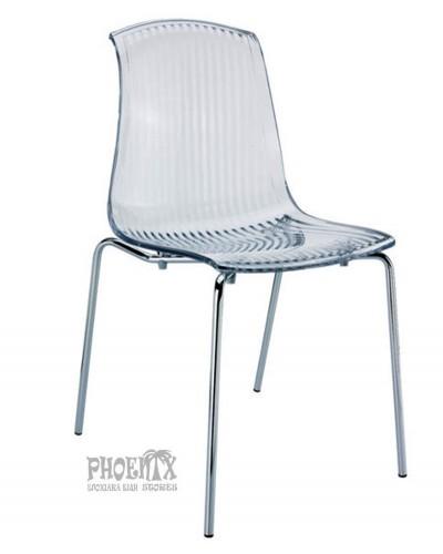 2975 Ακρυλική Καρέκλα χρώμα  ΔΙΑΦΑΝΟ