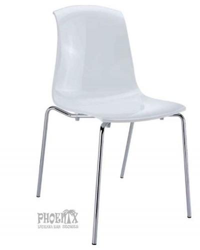 2976 Ακρυλική Καρέκλα χρώμα  ΛΕΥΚΟ