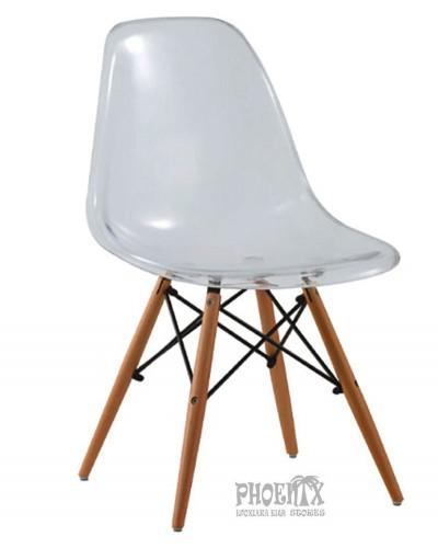 2981 Ακρυλική Καρέκλα χρώμα  ΛΕΥΚΟ