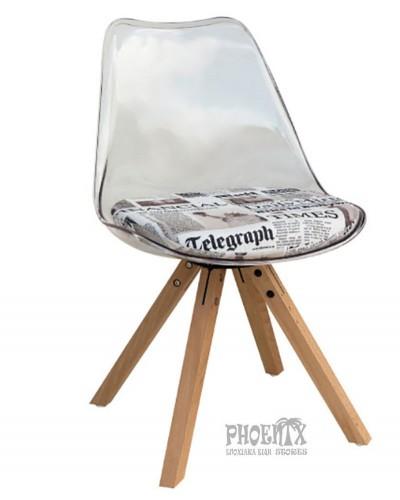 2983  Καρέκλα ξύλο - μέταλλο σε χρώμα  ΔΙΑΦΑΝΟ ΤΥΠΩΜΑ