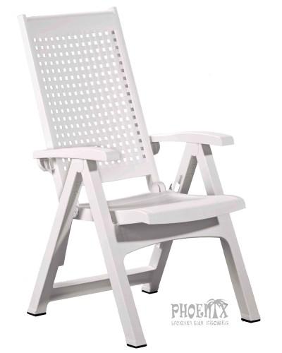 2694 Καρέκλα ανθρακί μεταλλική διάτρητη