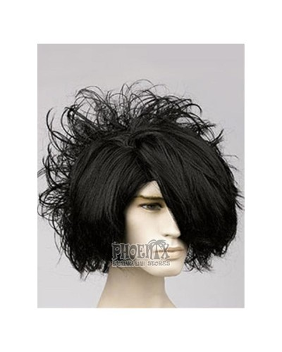 Αποκριάτικη Περούκα Έμο Ανδρική, Μαύρη