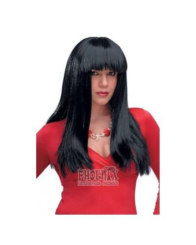 Αποκριάτικη περούκα Σίσσυ μαύρη