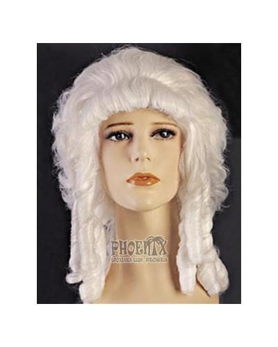 Αποκριάτικη περούκα Μαρκησία λευκή