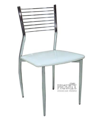 1762 Καρέκλα χρωμίου λευκή