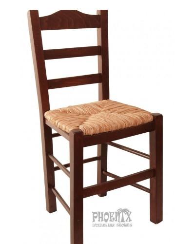 3506   Καρέκλα ξύλινη από οξυά με ψάθα.