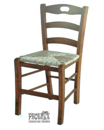 3506   Καρέκλα ξύλινη με ψάθα κλασική