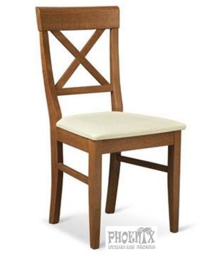 3523   Καρέκλα ξύλινη από οξυά με ψάθα.
