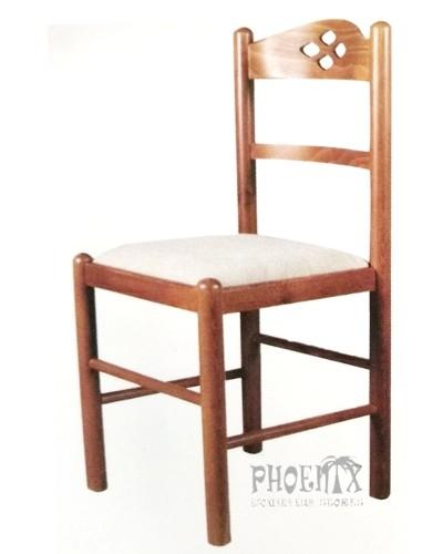 3532   Καρέκλα ξύλινη από οξυά με ψάθα.