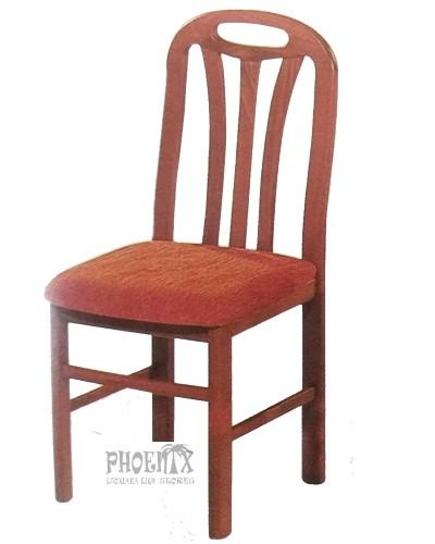 3540   Καρέκλα ξύλινη από οξυά με ύφασμα.