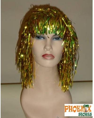 3559   Αποκριάτικη περούκα χρυσή.