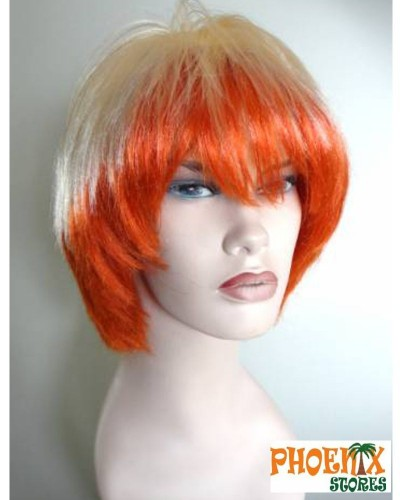 3564  Αποκριάτικη περούκα δίχρωμη ξανθιά-κόκκινη