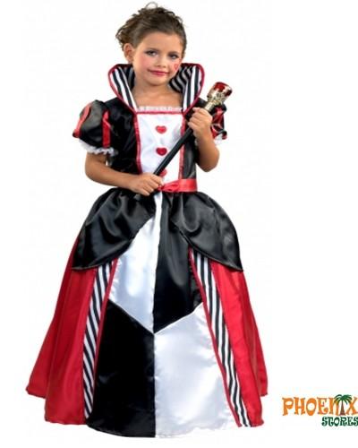 3654  Αποκριάτικη στολή βασίλισσα της καρδιάς