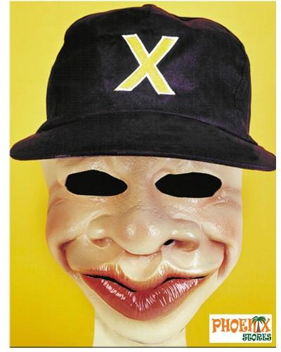 3736  Αποκριάτικη μάσκα λάτεξ με καπέλο