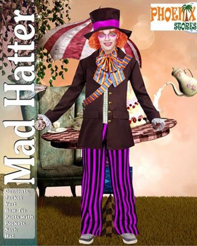 3912  Αποκριάτικη στολή τρελοκαπελάς[clown]  Νο L