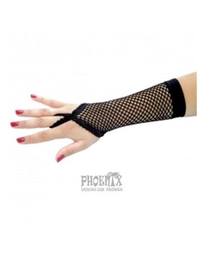 Αποκριάτικα γάντια μακρυά δικτυωτά μαύρα