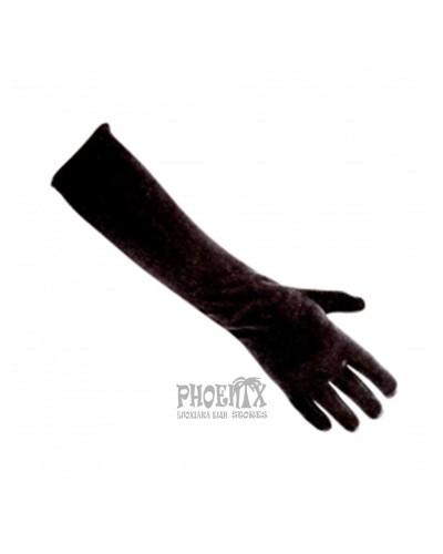 Αποκριάτικα γάντια βελούδινα μαύρα