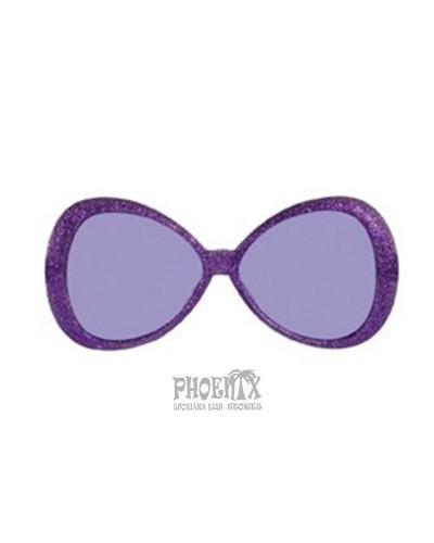 Αποκριάτικα γυαλιά μεγάλα γκλίτερ σε διάφορα χρώματα