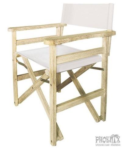 4261   Πολυθρόνα σκηνοθέτη Ξύλινη Πτυσσόμενη Antique White