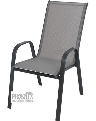 4259 Πολυθρόνα Μεταλλική Στοιβαζόμενη πολυθρόνα με Textilene ύφασμα