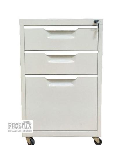 4671  Συρταριέρα μεταλλική λευκή 40x50x67cm