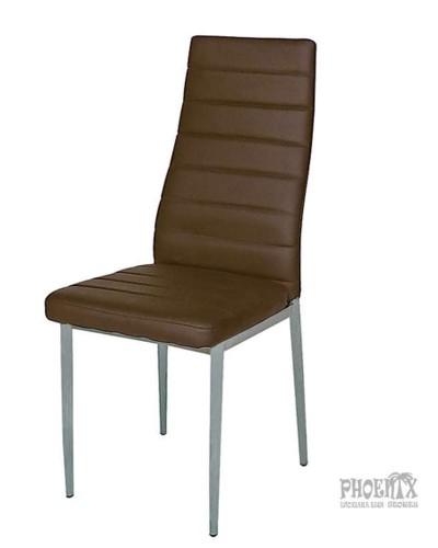 4758 Καρέκλα καπουτσίνο δερματίνη βαφής