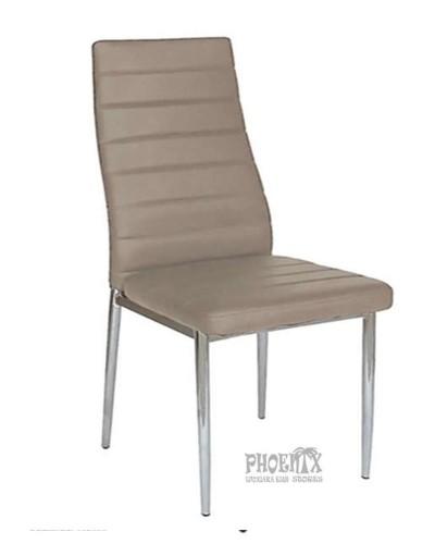 971 Καρέκλα καπουτσίνο δερματίνη χρωμίου