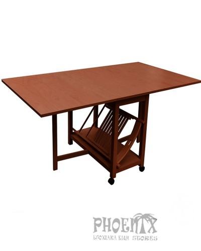 4805  Τραπέζι πτυσσόμενο 45[+65+65]x95x75,