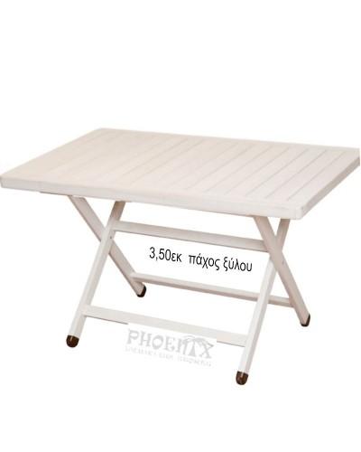 1057 Τραπέζι Ξύλινο Πτυσσόμενο Red Shorea 150Χ80εκ.