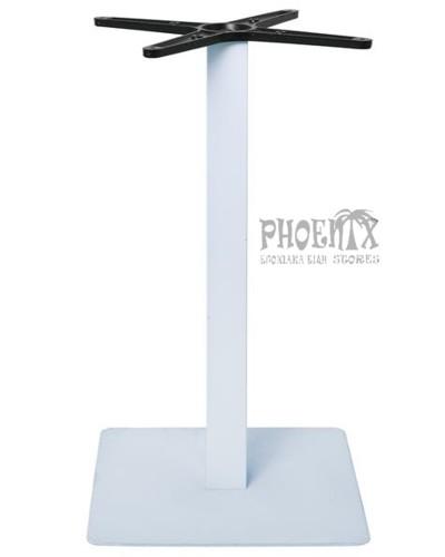 5645 Βάση Τραπεζιού 40x40cm H.72cm Μέταλλο Βαφή Άσπρο / 11,85kg