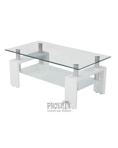 Τραπέζι Σαλονιού LINEA ΛΕΥΚΟ 110Χ60Χ45