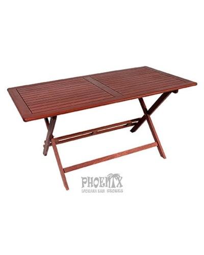 Τραπέζι Ξύλινο Πτυσσόμενο Red Shorea 150Χ80εκ.