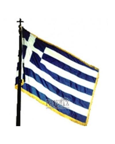 Ελληνική Σημαία Με Κρόσσια 150Χ90